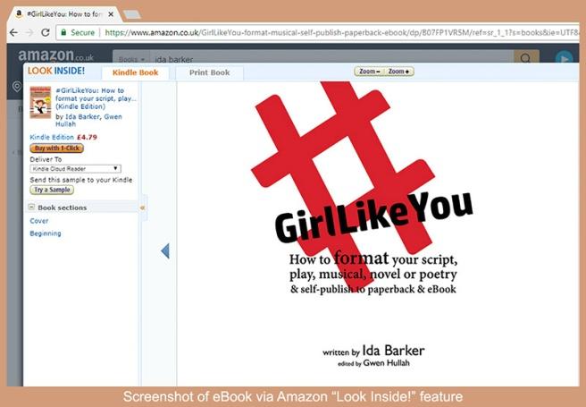 Screenshot of amazon's Look Inside! feature, showing #GirlLikeYou book