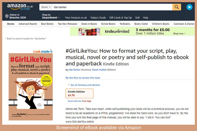 Screenshot of #GirlLikeYou ebook and paperback that is now available to buy at amazon